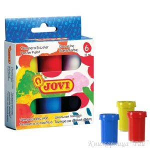 Темперни бои JOVI в бурканчета - 6 цвята