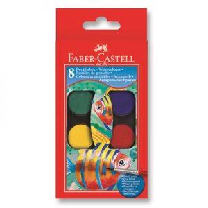 Акварелни бои 8 цвята FABER-CASTELL