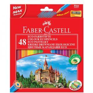 FABER-CASTELL Моливи ЗАМЪК 48 цвят + острилка