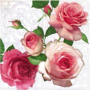 Салфетка за декупаж рози 01