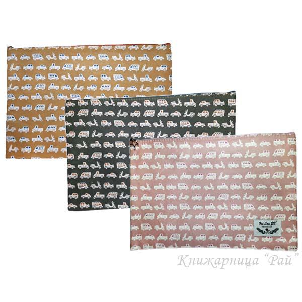 Папка с цип А4+ текстилна - Коли