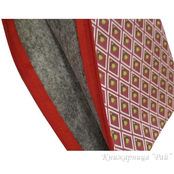 Папка с цип А4+ текстилна